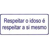 ADESIVO INFORMATIVO RESPEITAR O IDOSO