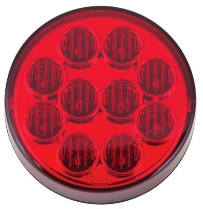 LANTERNA TRASEIRA BUSSCAR /CAIO/IBRAVA 10 LEDS VERMELHA Ø96mm 808202