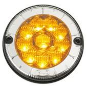 LANTERNA TRASEIRA DIRECIONAL LEDS AMARELO MODELO Ø125mm 10 LED 12V 804311