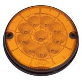 LANTERNA TRASEIRA LED AMBAR CAIO Ø125MM 12V APLICADA MODELOS URBANO 804101