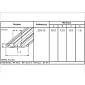 PERSMR446 PERFIL PVC FACAO LATERAL NEOBUS PERFIL