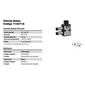 VALVULA BOTAO MOLA 3/2 VIAS MICRO VALVULA M5 S/CONEXAO 4310